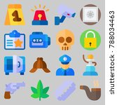 icon set about crime... | Shutterstock .eps vector #788034463