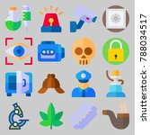 icon set about crime... | Shutterstock .eps vector #788034517