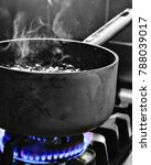 steam from boiling water | Shutterstock . vector #788039017