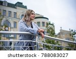 young beautiful plus size girl... | Shutterstock . vector #788083027