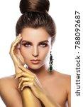 portrait of beautiful woman... | Shutterstock . vector #788092687