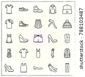 clothes line icons set vest and ... | Shutterstock .eps vector #788103487