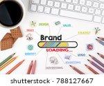 brand   business concept. chart ... | Shutterstock . vector #788127667