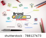 brand concept. chart with... | Shutterstock . vector #788127673