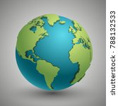 earth globe with green... | Shutterstock . vector #788132533