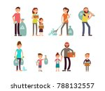 group of people adult and kids... | Shutterstock . vector #788132557