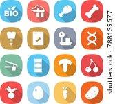 flat vector icon set   bio... | Shutterstock .eps vector #788139577