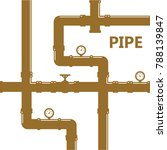 pipe fittings vector icons set. ... | Shutterstock .eps vector #788139847