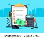 payroll. expenses  salary... | Shutterstock . vector #788152753