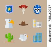 icon set about united states... | Shutterstock .eps vector #788160787