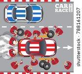 maintenance of a racing car.... | Shutterstock .eps vector #788161207