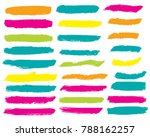 collection of hand drawn... | Shutterstock .eps vector #788162257