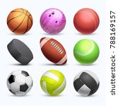 different 3d sports balls... | Shutterstock . vector #788169157