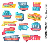 sale banners and price tag... | Shutterstock . vector #788169313