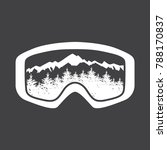 ski goggles with glass... | Shutterstock .eps vector #788170837