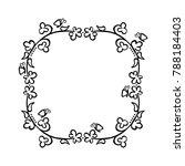frame. flowers and butterflies. ... | Shutterstock .eps vector #788184403