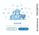 judaism concept with thin line... | Shutterstock .eps vector #788188993