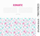 romantic concept with thin line ... | Shutterstock .eps vector #788190823