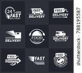 set of delivery labels for... | Shutterstock .eps vector #788195587