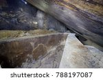 Small photo of Huge spaces under slicken side in an abandoned mine in Hodrusa, Banska Stiavnica region, Slovakia.