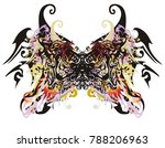 awful butterfly wings. abstract ... | Shutterstock .eps vector #788206963