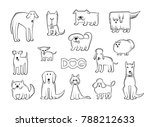 vector set of different dog... | Shutterstock .eps vector #788212633