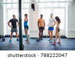 diverse group of fit young... | Shutterstock . vector #788222047