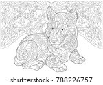 coloring page. adult coloring... | Shutterstock .eps vector #788226757