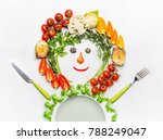 healthy lifestyle and dieting... | Shutterstock . vector #788249047