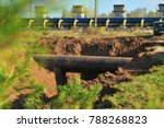 gas compressor station. the gas ... | Shutterstock . vector #788268823