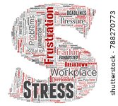 conceptual mental stress at... | Shutterstock . vector #788270773