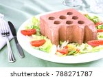 heavy food hard digestion  ... | Shutterstock . vector #788271787