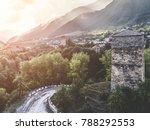 svan tower in mestia town  roof ... | Shutterstock . vector #788292553