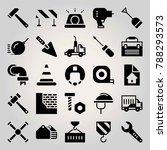 construction vector icon set.... | Shutterstock .eps vector #788293573