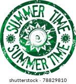 summer time stamp | Shutterstock .eps vector #78829810