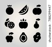 fruits vector icon set....   Shutterstock .eps vector #788299447