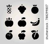 fruits vector icon set....   Shutterstock .eps vector #788299807