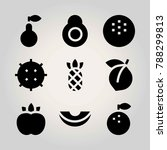 fruits vector icon set. lychee  ...   Shutterstock .eps vector #788299813
