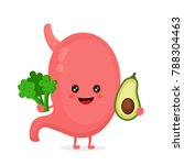 strong healthy happy stomach... | Shutterstock .eps vector #788304463