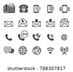 icons vector phone and email  ... | Shutterstock .eps vector #788307817
