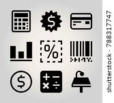 technology vector icon set.... | Shutterstock .eps vector #788317747