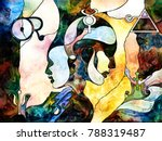 stained glass forever series.... | Shutterstock . vector #788319487
