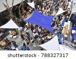 canvas covering fairground   Shutterstock . vector #788327317