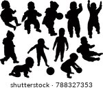illustration with child... | Shutterstock .eps vector #788327353