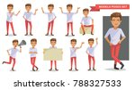 model man set of male. guy in... | Shutterstock .eps vector #788327533