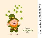 st.patrick 's day. leprechaun ... | Shutterstock .eps vector #788328397
