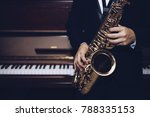 close up of young saxophone... | Shutterstock . vector #788335153