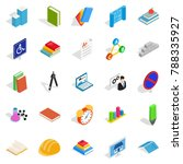 cognizance icons set. isometric ... | Shutterstock . vector #788335927