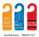 do not disturb sign  ... | Shutterstock .eps vector #788341717