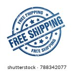 free shipping rubber stamp...   Shutterstock . vector #788342077